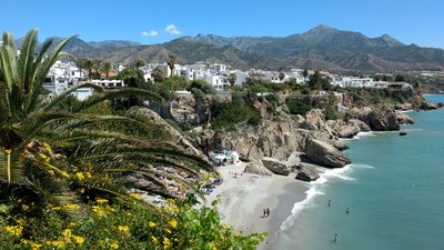 The beach of Nerja